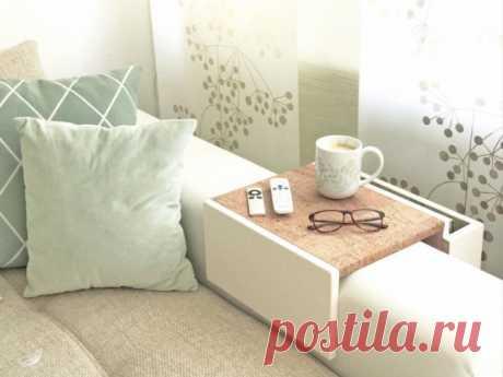 Подставка на подлокотник дивана своими руками — Сделай сам, идеи для творчества - DIY Ideas