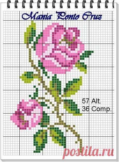 роза вышивка