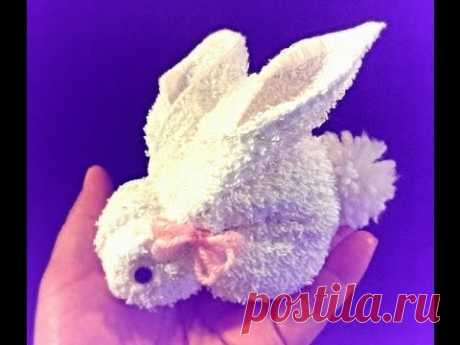 Diy: How to make a bunny using a towel - YouTube