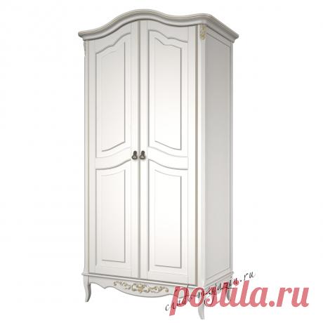 Шкаф распашной 2-х дверный цвет слоновая кость