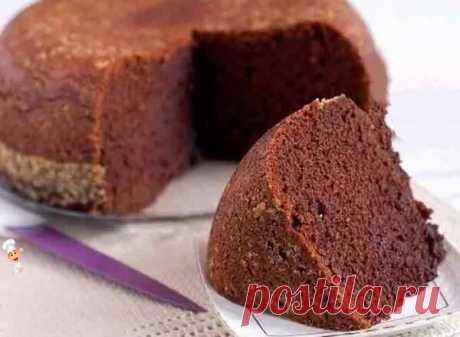 Шоколадный бисквит на кипятке в мультиварке | Готовим рецепты | Яндекс Дзен