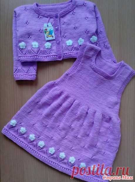 Костюм для девочки спицами.( сарафан и болеро) - Вязание для детей - Страна Мам