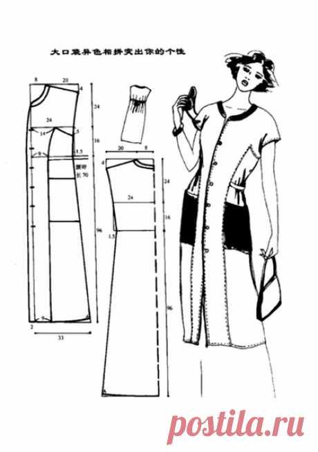 Платья-халаты простого кроя. #простыевыкройки #простыевещи #шитье #платье #халат #выкройка
