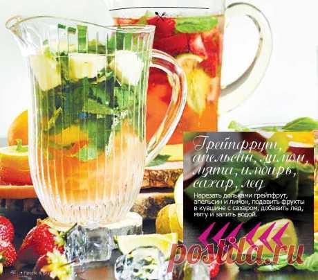 Напиток с цитрусовыми, имбирем и мятой
