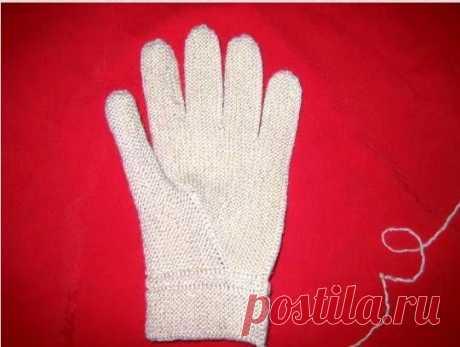 Способ вязания перчаток,при котором они всегда будут идеально облегать руки,подробно по фото мастер-класс