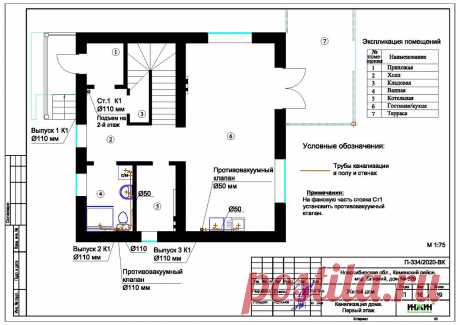 Проект отопления частного дома, пример 1356