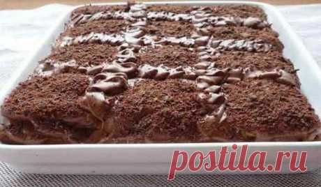 Торт «Кофе с шоколадом» без выпечки Десерт готовится очень быстро, из подручных ингредиентов. Вкус изумительный, а сам торт получается мягчайшим!