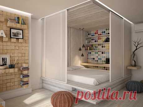 Как спрятать кровать в однушке: 10 адекватных решений - Postel-Deluxe.ru