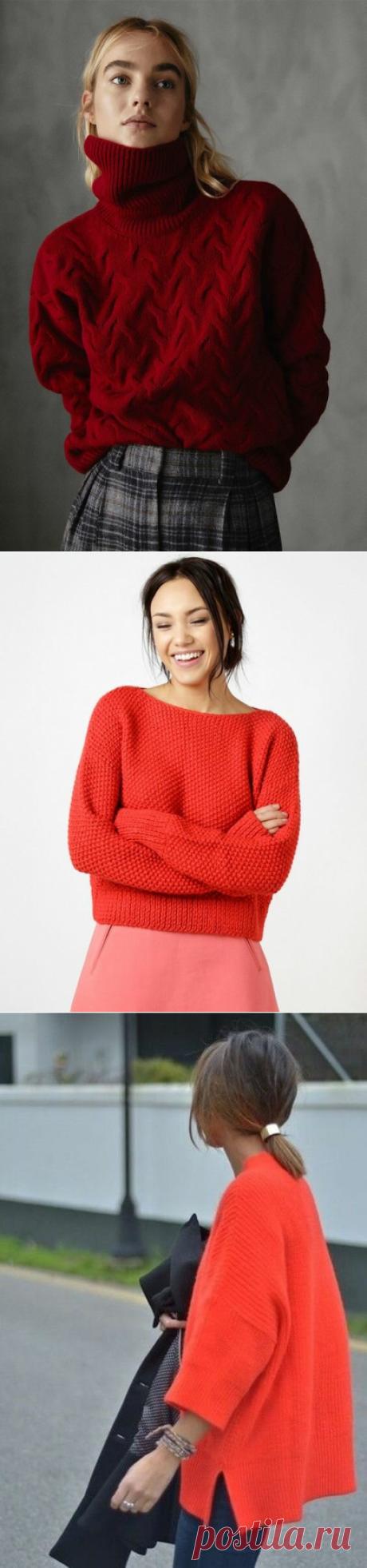 Почему не стоит бояться красного цвета в вязании. Прекрасные яркие модели.   Вяжу для души   Яндекс Дзен