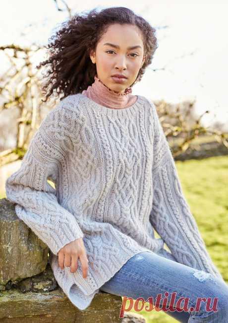 Пуловер с косами Sykes - Вяжи.ру