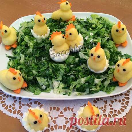 Цыплята из картошки - рецепт с фото