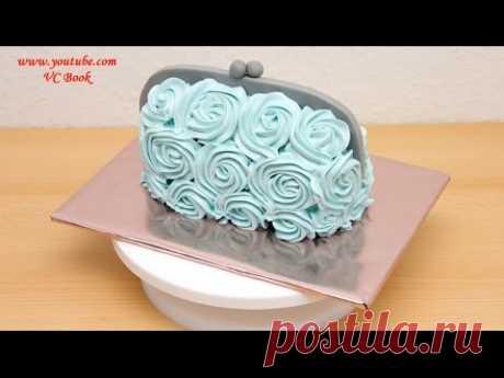 La torta el bolso De señora | la Torta con la crema cocida albuminada | Adornamiento de las tortas