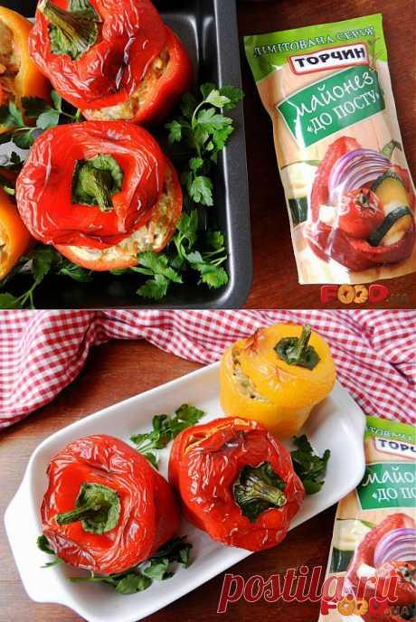 Паприка с шампиньонами - Кулинарные рецепты на Food.ua
