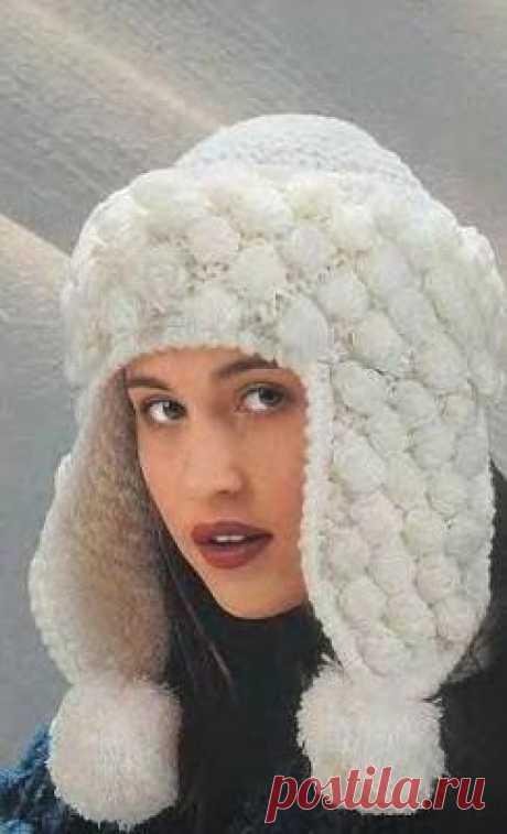 Вязание шапок ушанок - Вязание для женщин - Схемы вязания крючком и спицами - Вязание
