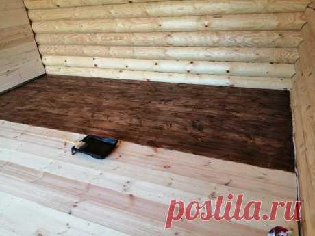 Такого от пола я не ожидал! Покрываю деревянный пол тонирующим составом. | Даня на даче: строю и показываю! | Яндекс Дзен