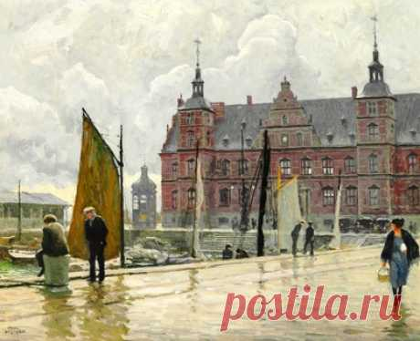 Набережная в Копенгагене — сбор пазла — Пазлы онлайн
