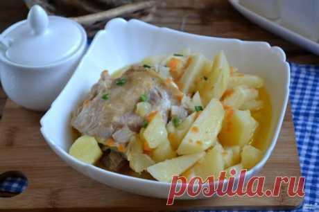Тушим картофель в мультиварке