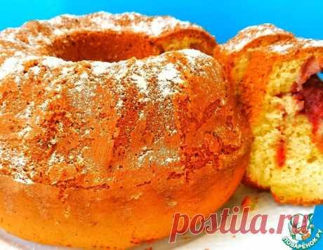 Пышный и ароматный кекс с клубникой – кулинарный рецепт
