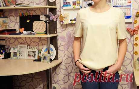 Моделирование простой блузки, похожей на футболку