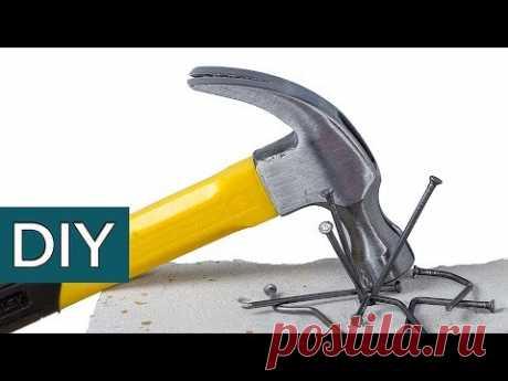 Советы старых мастеров.  Как забить гвозди в силикатный КИРПИЧ?   #Стройхак