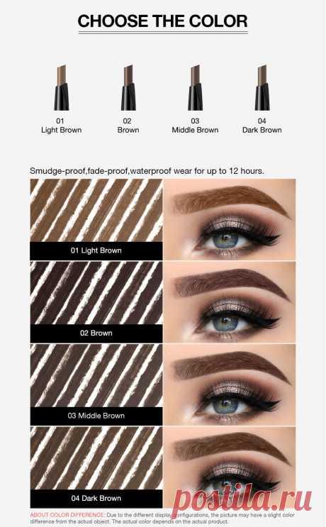 Wholesale Product Snapshot Product name is BANXEER Eyebrow 4 Colors Waterproof Eyebrow Long Lasting Eye brow Tattoo Pencil Durable Black Brown Smudge-proof Eye Brow Pencil