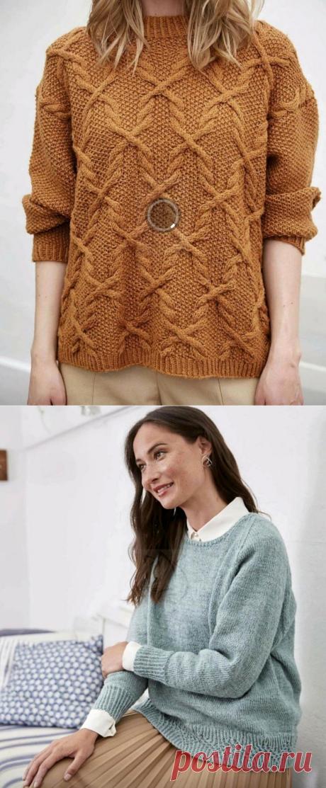 Джемперы для повседневных выходов и фантастически красивый узор, который я связала спицами. | Asha. Вязание и дизайн.🌶 | Яндекс Дзен
