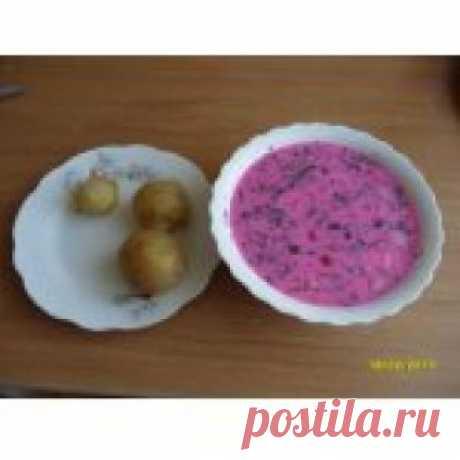 Холодный борщ по-литовски Кулинарный рецепт