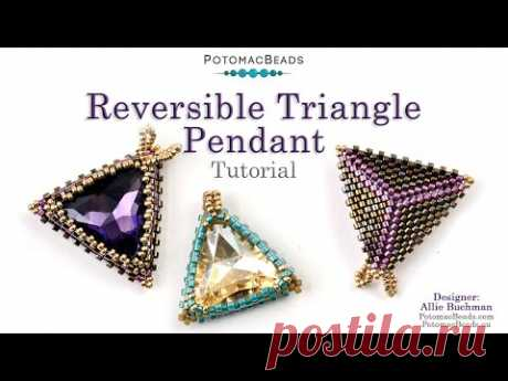 Reversible Triangle Pendant - DIY Jewelry Making Tutorial by PotomacBeads