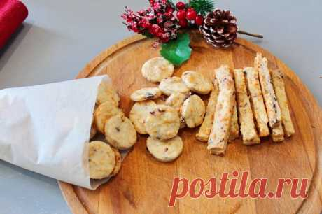 Сырное печенье с маслинами и розмарином