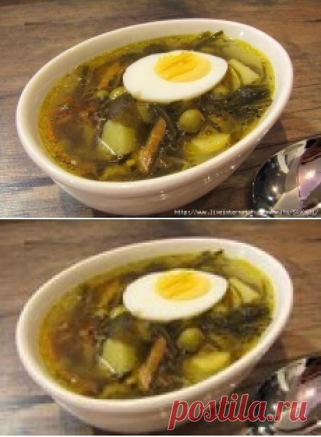 Оригинальный суп с морской капустой.