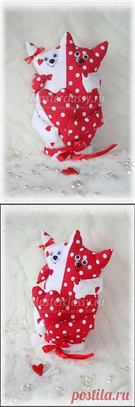 Подарок на 14 февраля своими руками. Влюбленные котики. Мастер-класс с пошаговыми фото.