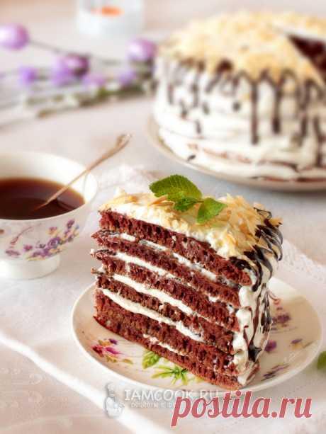 Шоколадный торт на сковороде за 50 минут (со сливочным кремом) — рецепт с фото пошагово