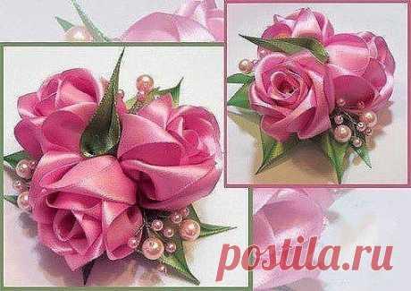 Роза из лент — DIYIdeas
