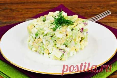 Рецепт салата с горошком