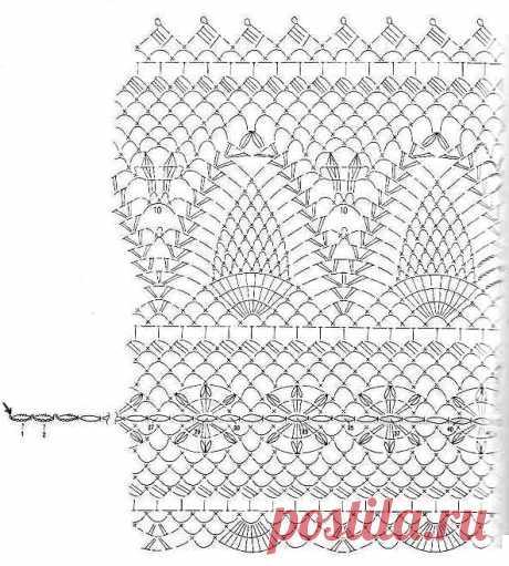Салфетки крючком со схемами и описанием: подсолнух и виноград