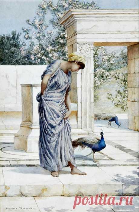 Золотая моя печаль...Художник Henry Ryland (British, 1856-1924)