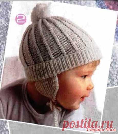 Шапочка на мальчика от 0 до 1,5 - Вязание для детей - Страна Мам