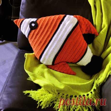 """Pillow """"Рыба"""". Hook. \/ Md.Crochet"""