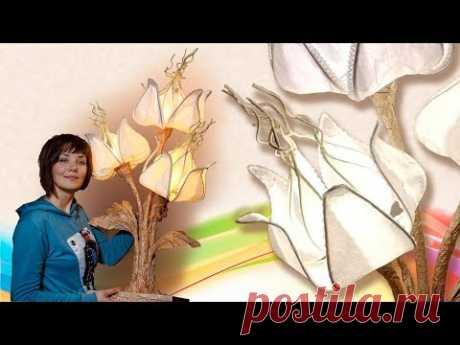 Презентация мастер-класса «Краф-ажур», интерьерный светильник. Мастер Наталья Дроздова..