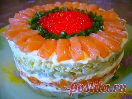 Лучшие кулинарные рецепты: Салат с семгой
