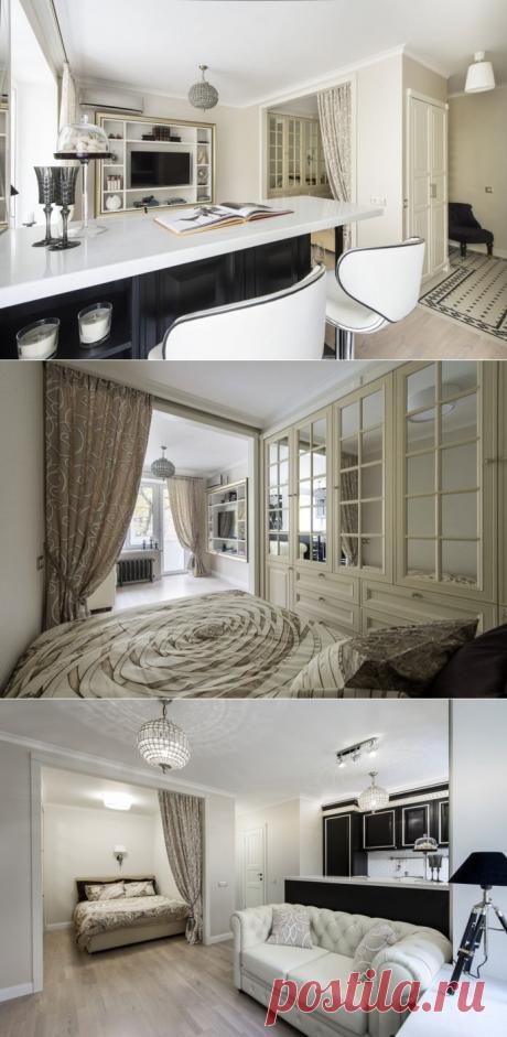 Арт-деко в интерьере однокомнатной квартиры 29 кв - Дизайн интерьеров   Идеи вашего дома   Lodgers
