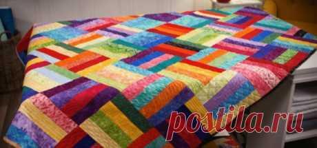 Красивое стеганое одеяло - Рукодельные идеи