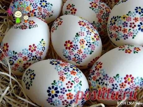 Украшения и роспись пасхальных яиц » Журнал для мам и детей