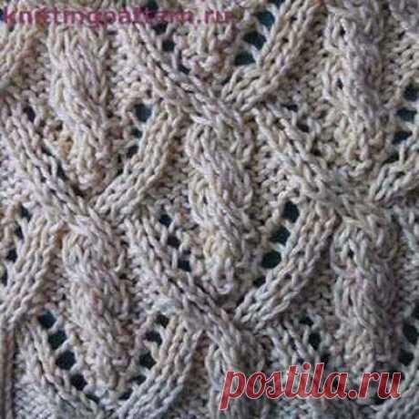 Вязание спицами узоры фото Фонарики