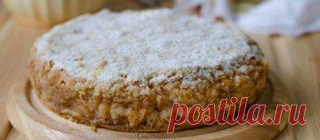Насыпной яблочный пирог по-болгарски за 7 минут | Вкусные рецепты с фото | Яндекс Дзен