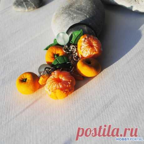 Новый год - мандариновый брелок в подарок