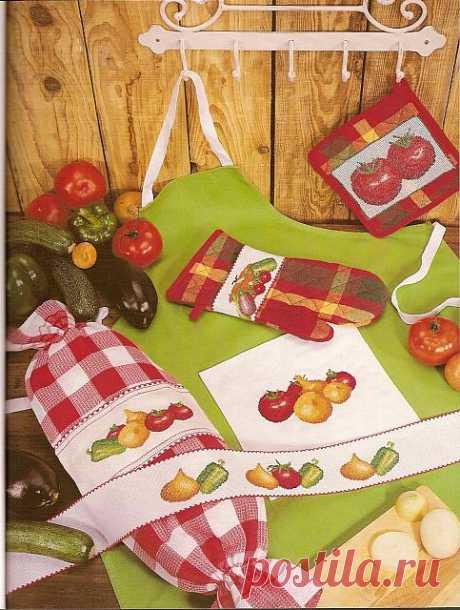 Овощная тема для вышивки кухонных аксессуаров