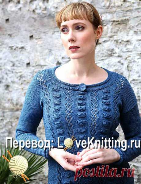 Нежный пуловер выпуклым узором | ВЯЗАНИЕ - LoveKnitting.ru | Яндекс Дзен