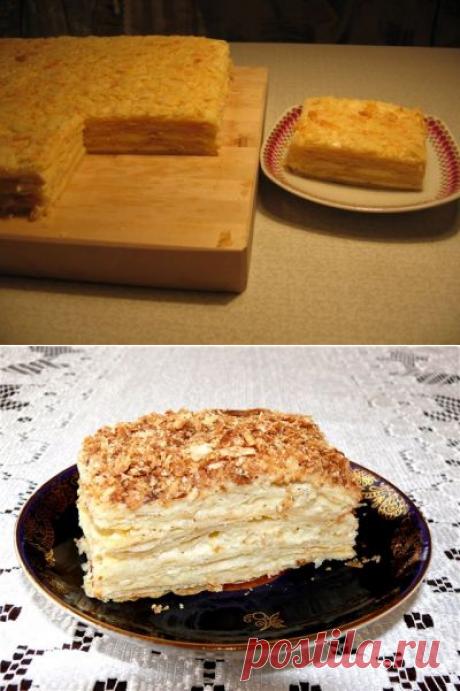 Торт «Наполеон» (коржи из двух видов теста)