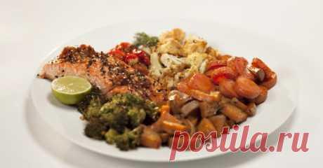 Вкусный рецепт запечённого лосося с овощами
